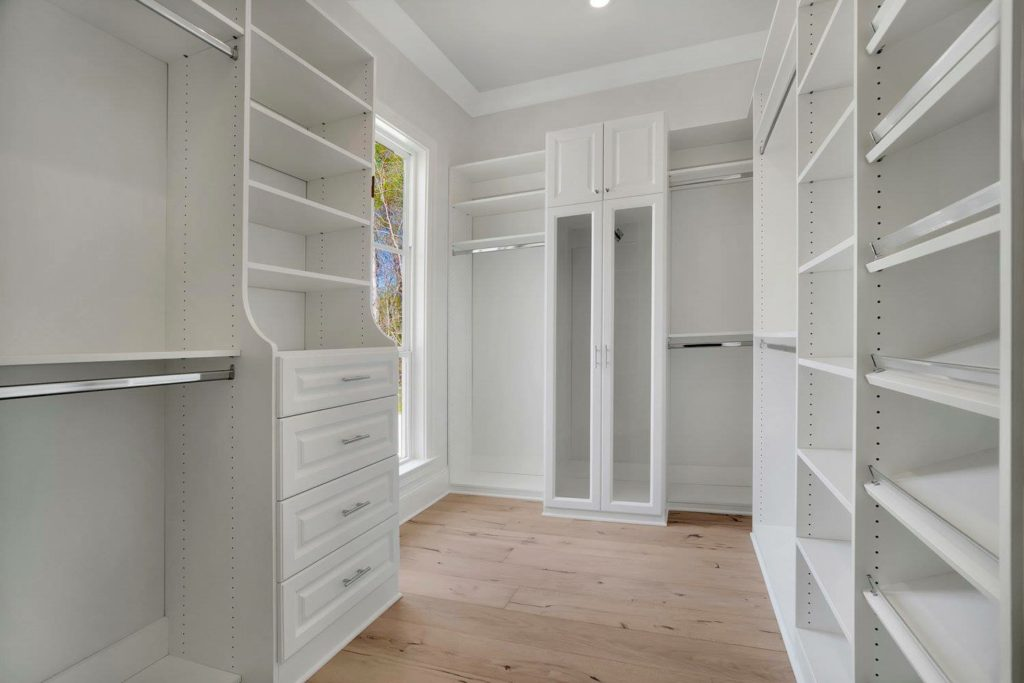 Custom Bedroom Closets and Shelves - White