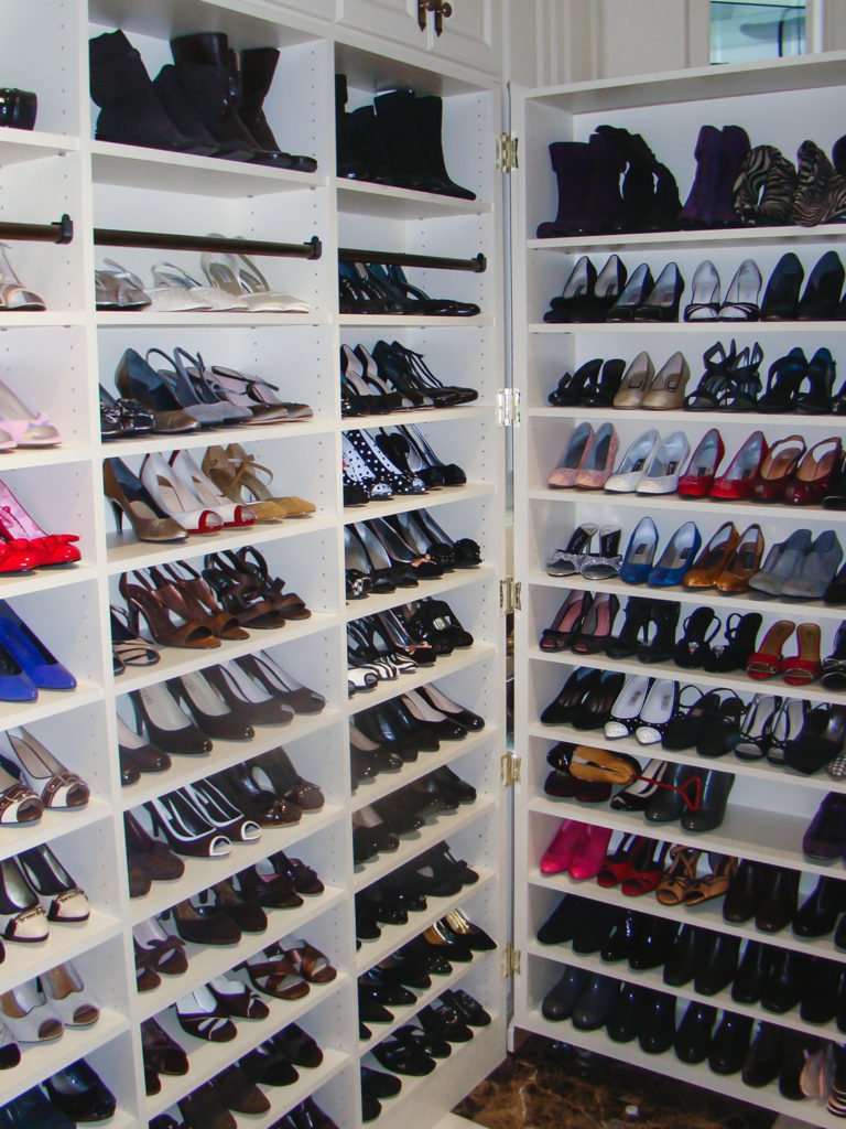 Custom Built Shoe Closet