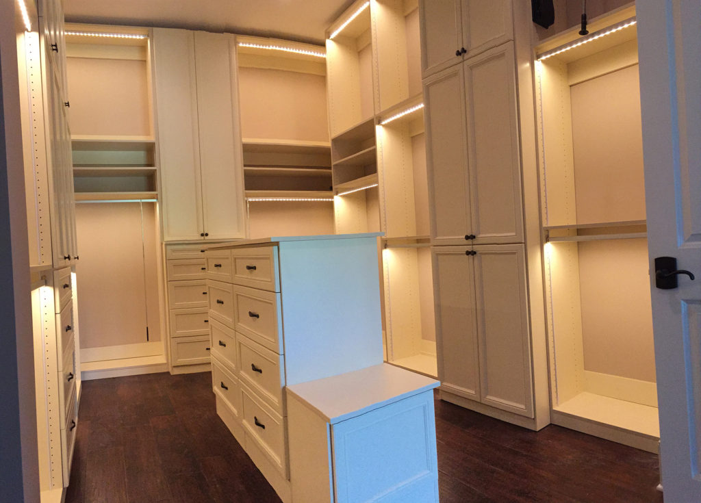 Master Closet Drawers and Cabinets