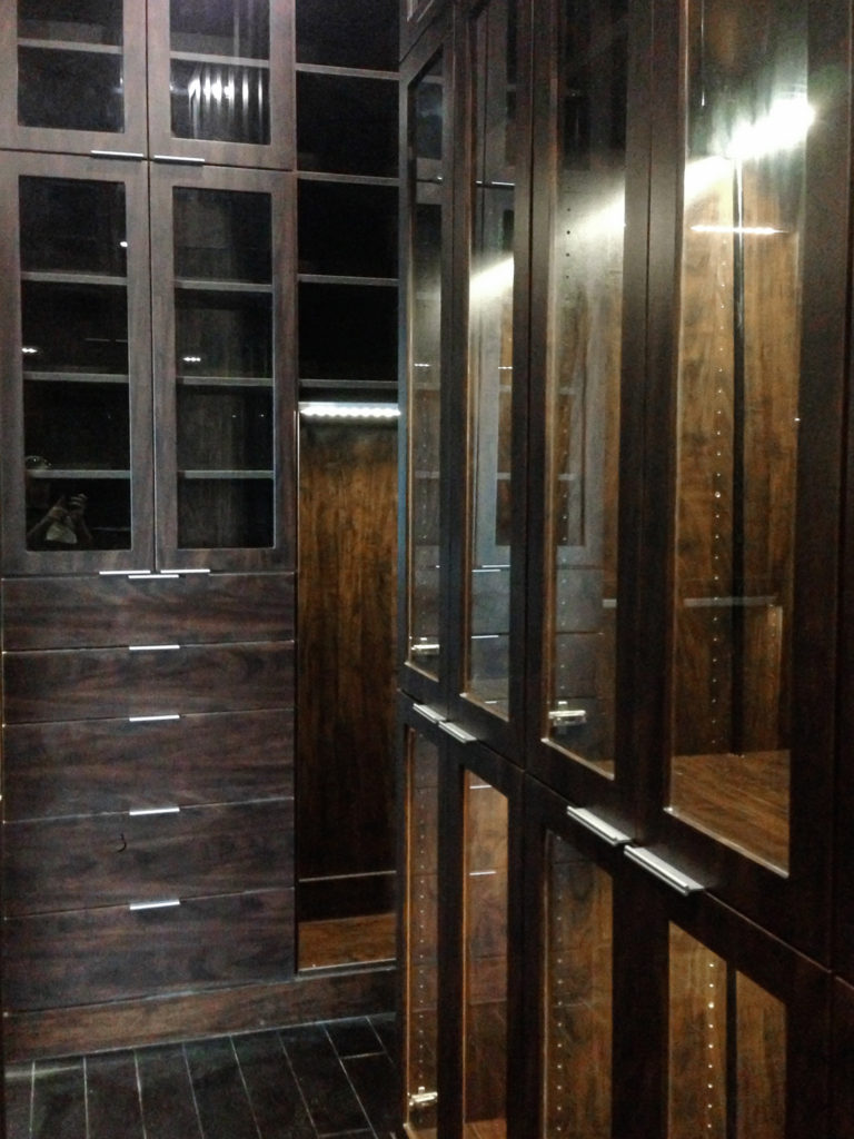 Custom Cabinets with Glass Doors