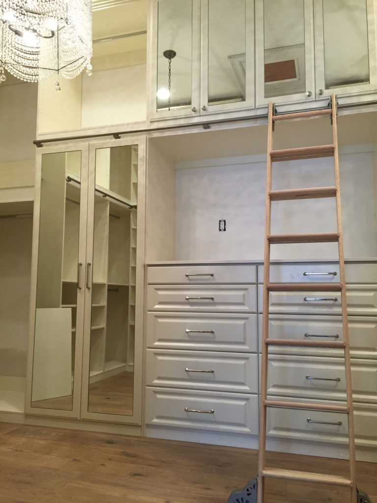 Top Level Cabinets and Ladder