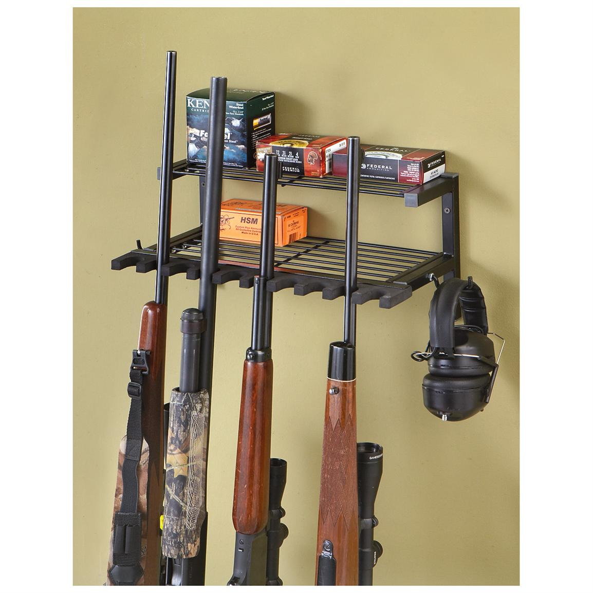 Enchanting Decorative Rifle Wall Mounts Composition - Wall Painting ...